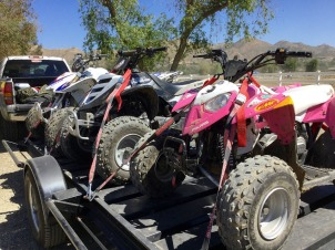Atv Bike Prepped for storage