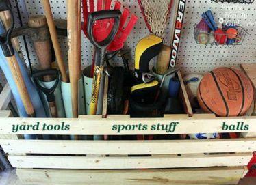 Catgorized-storage-box-in-garage