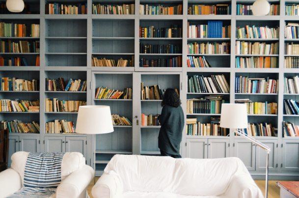 floor to ceiling book shelf